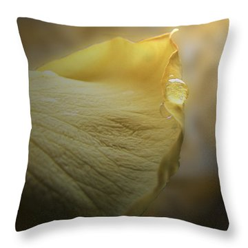 Throw Pillow featuring the photograph Oh So Soft Is The Kiss Of Dew by Debbie Portwood