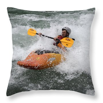 Oh What A Feeling Throw Pillow by Bob Christopher