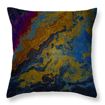Oil On Pavement True Colors Throw Pillow