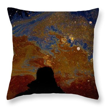 Oil On Pavement Visionary Throw Pillow