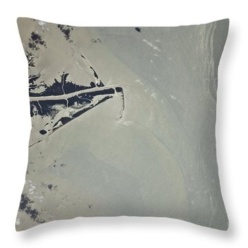 Oil Slick, Mississippi River Delta Throw Pillow by NASA/Science Source