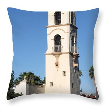 Ojai Post Office Tower Throw Pillow by Henrik Lehnerer