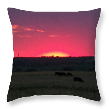 Okie Sunset Throw Pillow