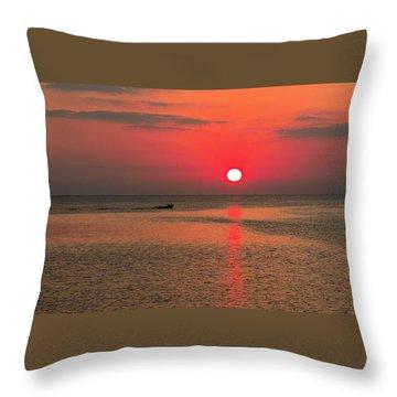 Okinawa Sunset Throw Pillow