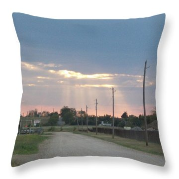 Oklahoma Beamer Throw Pillow