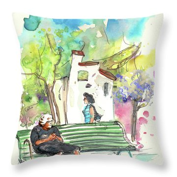 Old And Lonely In Portugal 04 Throw Pillow by Miki De Goodaboom