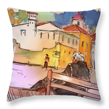 Old And Lonely In Portugal 07 Throw Pillow by Miki De Goodaboom