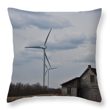 Throw Pillow featuring the photograph Old And New by Barbara McMahon