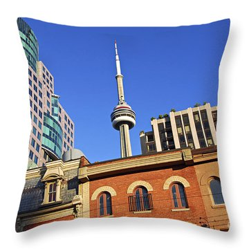 Old And New Toronto Throw Pillow by Elena Elisseeva