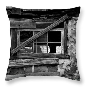 Old Barn Window Throw Pillow by Perry Webster