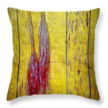 Old Brooms Throw Pillow by Judi Bagwell