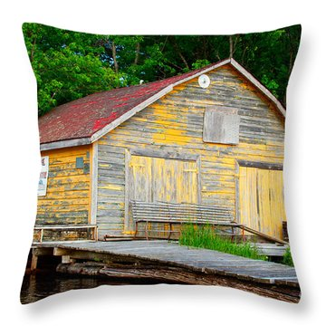 Throw Pillow featuring the photograph Old Cabin by Les Palenik