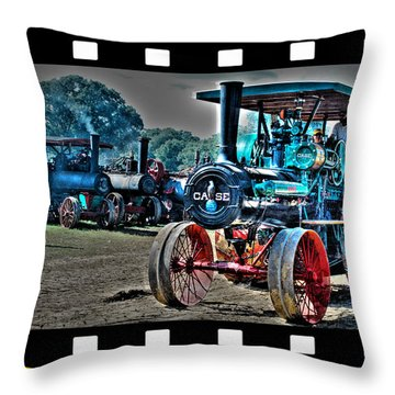 Old Case Tractor Throw Pillow