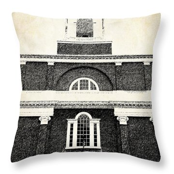 Old Church In Boston Throw Pillow by Elena Elisseeva