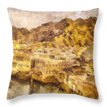 Old City Of Muscat Throw Pillow