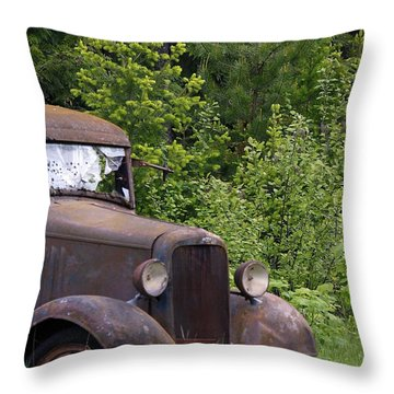 Throw Pillow featuring the photograph Old Classic by Steve McKinzie