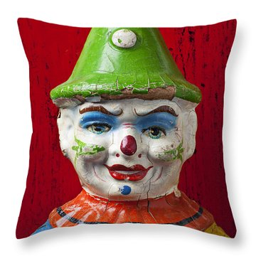 Old Cown Face Throw Pillow by Garry Gay