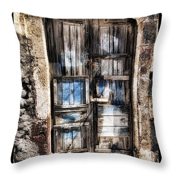 Old Door Throw Pillow by Mauro Celotti