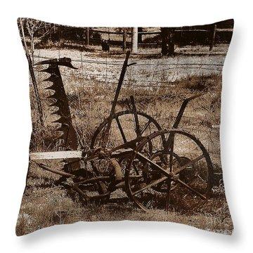 Throw Pillow featuring the photograph Old Farm Equipment by Blair Stuart