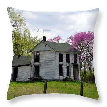Old Farmstead Throw Pillow by Marty Koch