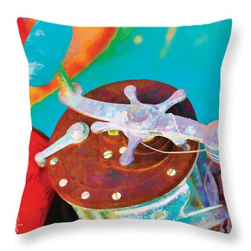Old Fish Story Throw Pillow