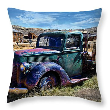 Old Ford V8 Truck Throw Pillow