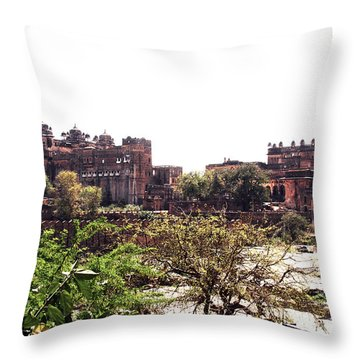 Old Fort In India Throw Pillow by Sumit Mehndiratta
