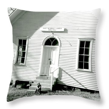 Throw Pillow featuring the photograph Old Gauley Church by Amy Sorrell