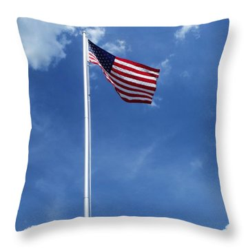 Old Glory Throw Pillow by Anna Villarreal Garbis