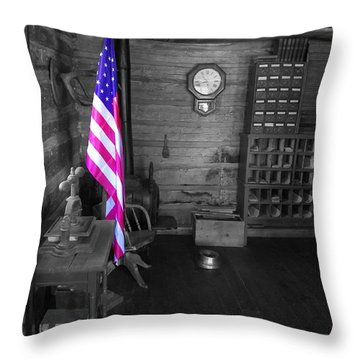 Throw Pillow featuring the photograph Old Glory by Deniece Platt