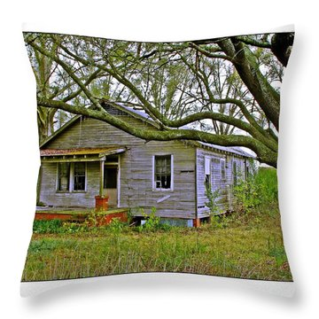 Old Gray House Throw Pillow by Judi Bagwell