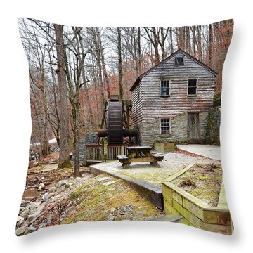 Throw Pillow featuring the photograph Old Grist Mill by Paul Mashburn