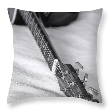Old Guitar Throw Pillow by Svetlana Sewell