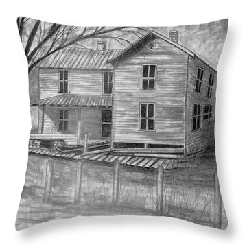 Old Homeplace Throw Pillow by Julie Brugh Riffey