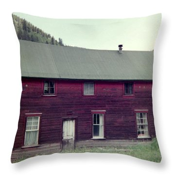 Throw Pillow featuring the photograph Old Hotel by Bonfire Photography