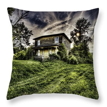 Old House Throw Pillow by Nick  Shirghio
