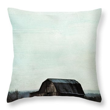 Old Kentucky Tobacco Barn Throw Pillow