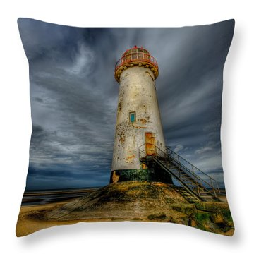 Old Lighthouse Throw Pillow by Adrian Evans