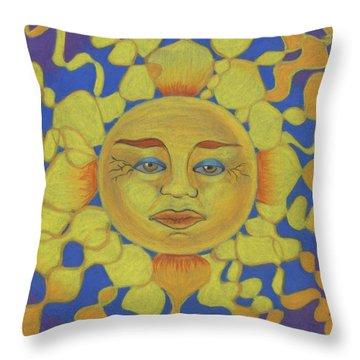Old Man Sun Throw Pillow