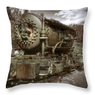 Old Mine Train Banff Throw Pillow