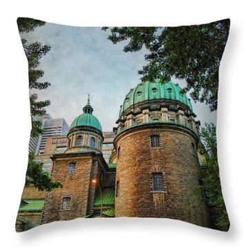 Old Montreal Church Throw Pillow by Joan  Minchak
