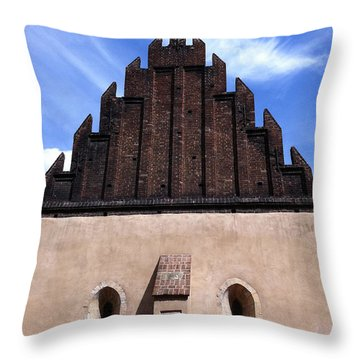 Old New Synagogue Throw Pillow by Linda Woods