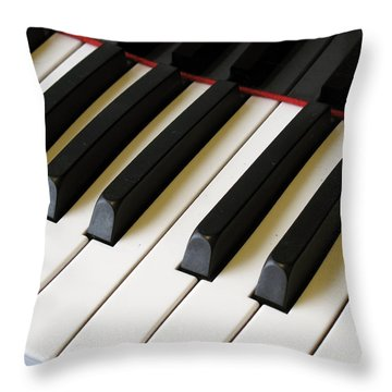 Throw Pillow featuring the photograph Old Piano by Dorin Adrian Berbier