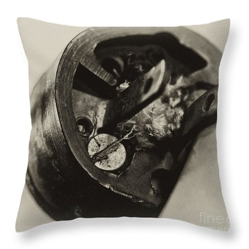 Old Plug  Throw Pillow by Wilma  Birdwell