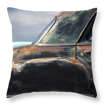 Old Plymouth  Throw Pillow by Heidi Hermes