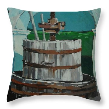 Old Press Throw Pillow