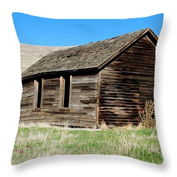 Old Ranch Hand Cabin Throw Pillow