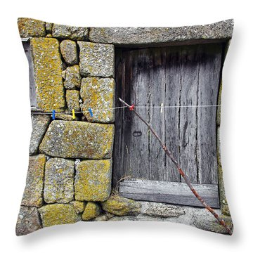Old Rural House Throw Pillow by Carlos Caetano