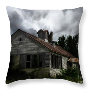 Old School House Throw Pillow by Ms Judi
