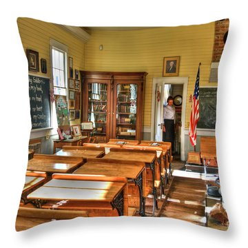 Old School II Throw Pillow by Diego Re